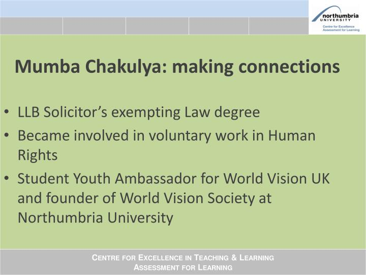 Mumba Chakulya: making connections