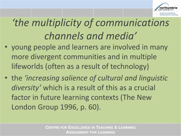 'the multiplicity of communications channels and media'