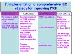 7 implementation of comprehensive iec strategy for improving iycf