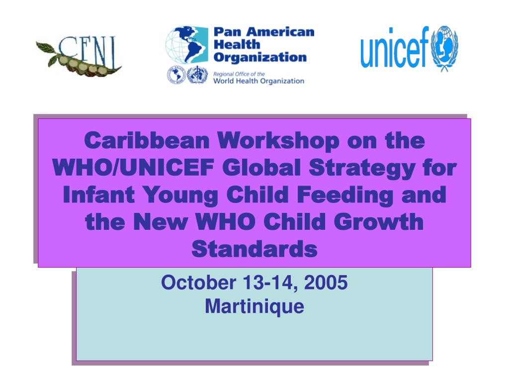 Caribbean Workshop on the WHO/UNICEF Global Strategy for