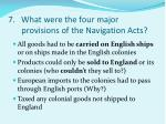7 what were the four major provisions of the navigation acts