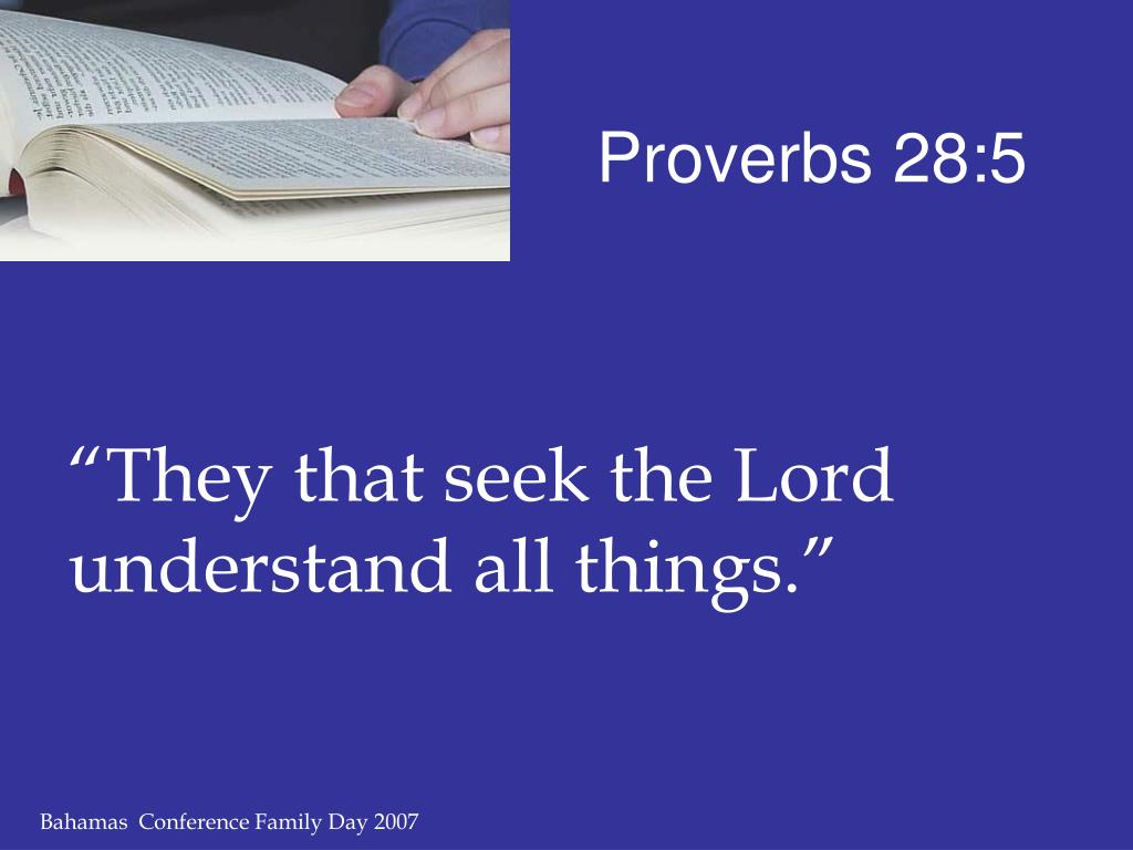Proverbs 28:5