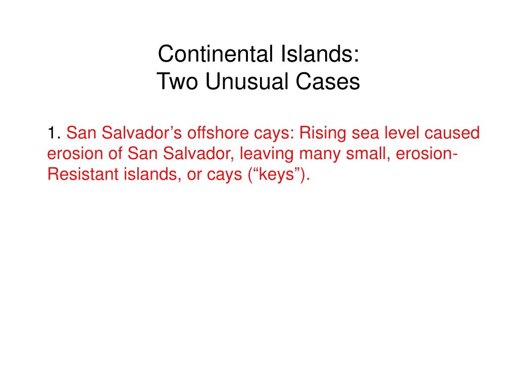 Continental Islands: