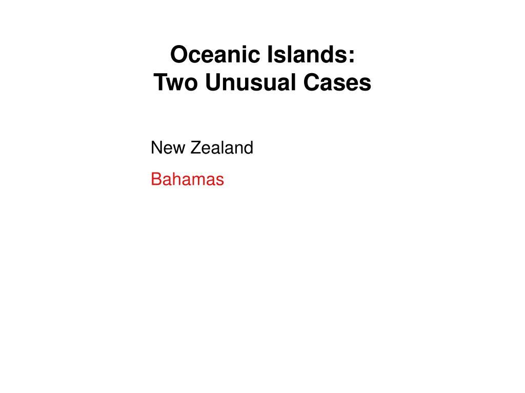 Oceanic Islands: