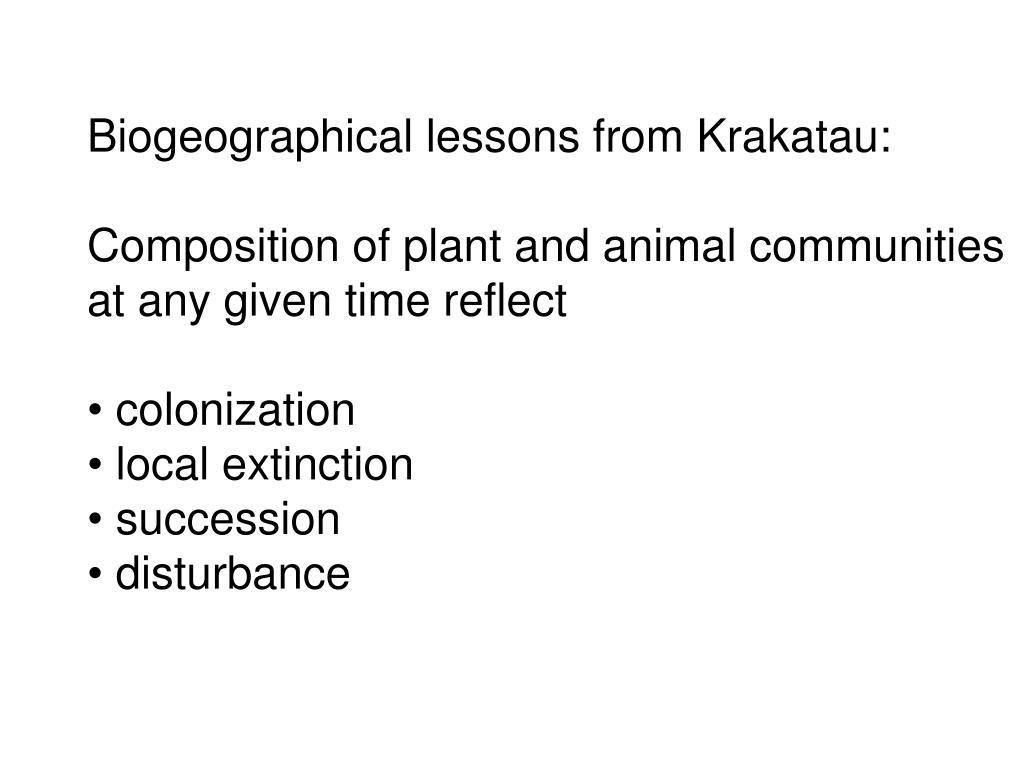 Biogeographical lessons from Krakatau: