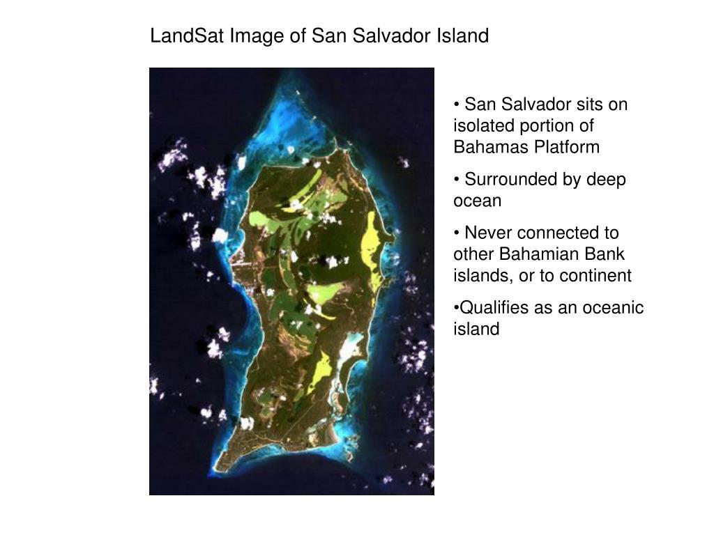 LandSat Image of San Salvador Island
