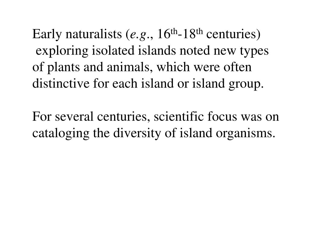 Early naturalists (