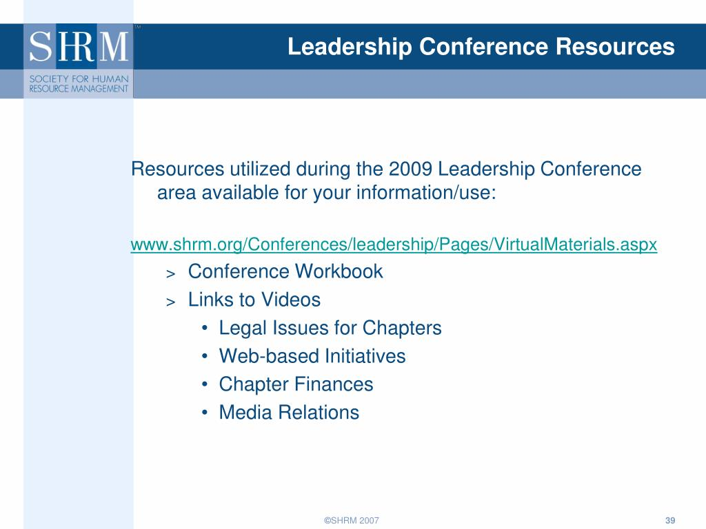 Leadership Conference Resources