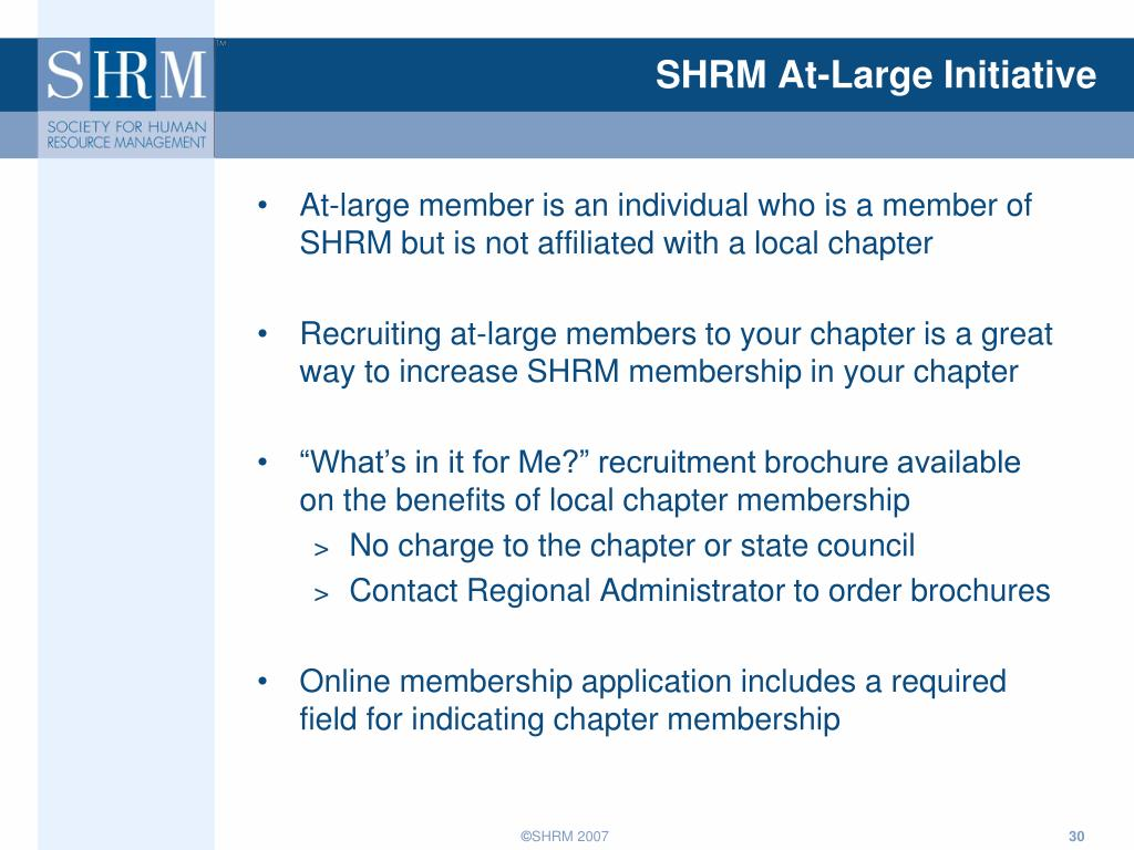 SHRM At-Large Initiative