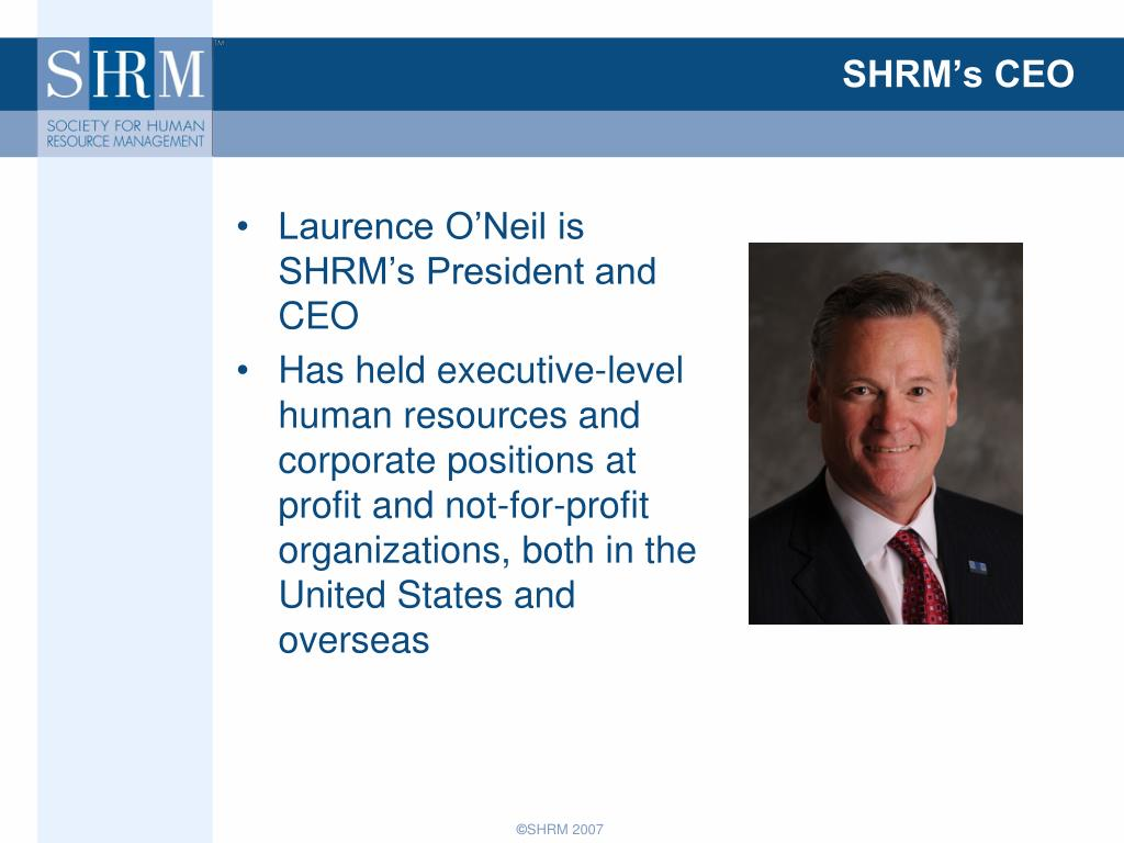 SHRM's CEO