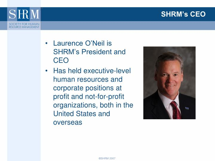 Shrm s ceo