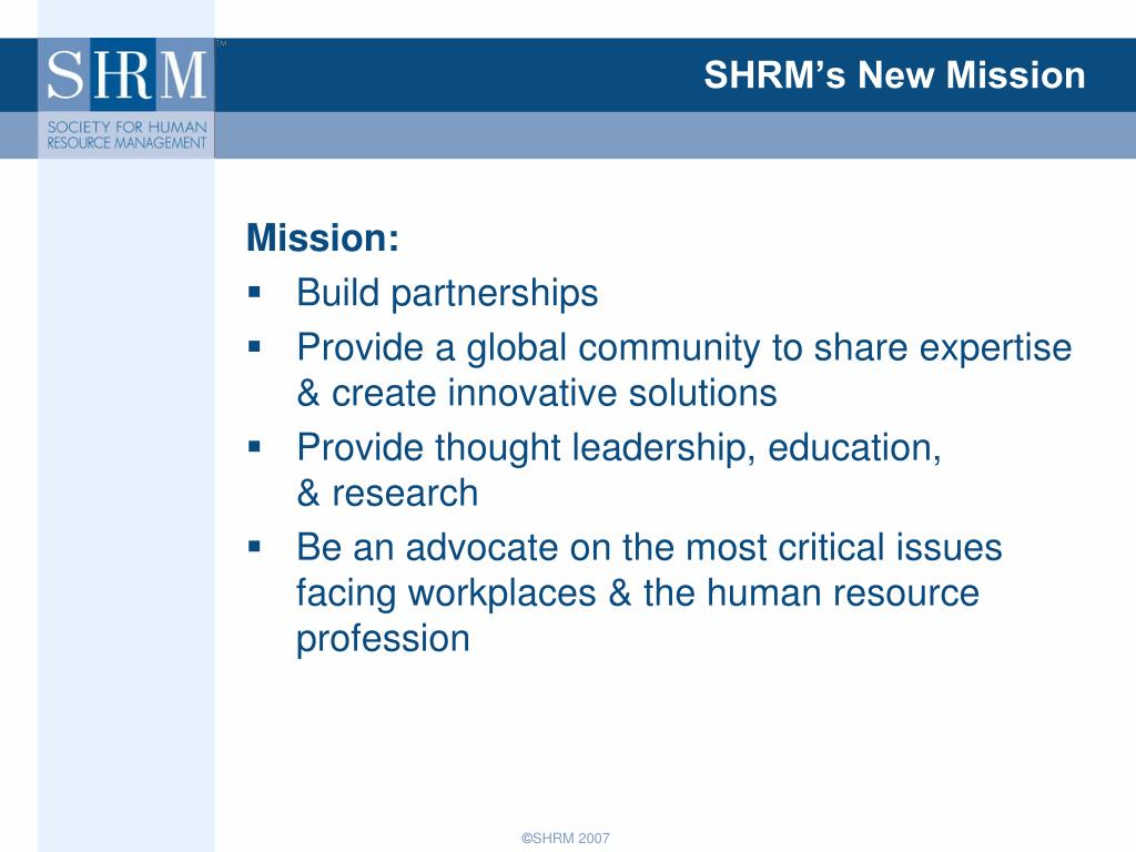 SHRM's New Mission