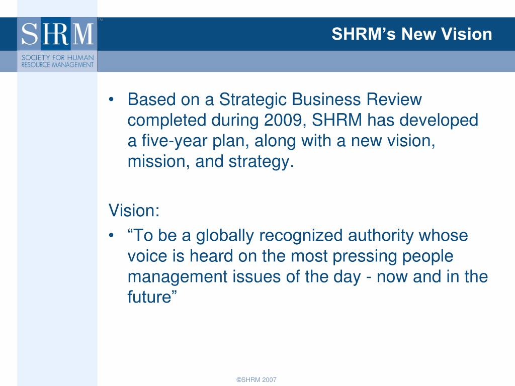 SHRM's New Vision