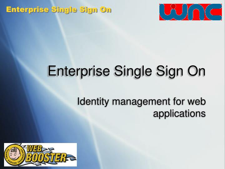 Enterprise single sign on