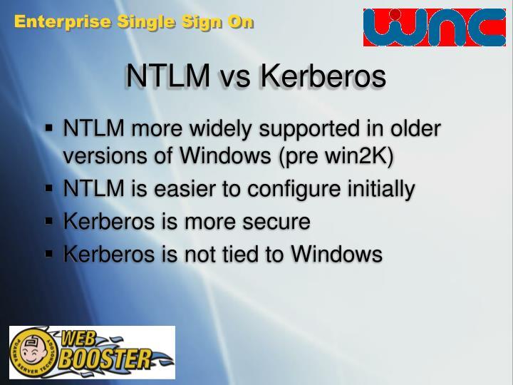 NTLM vs Kerberos