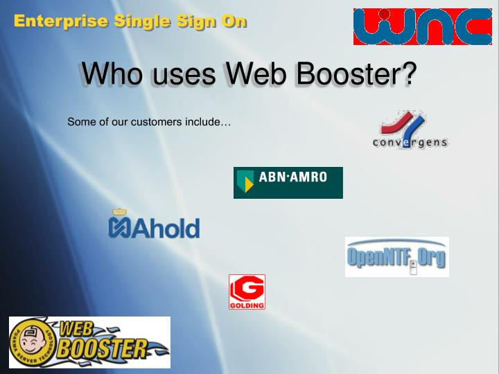 Who uses Web Booster?