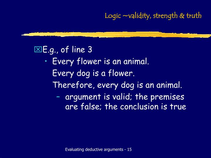 what is the relationship between validity invalidity and truth