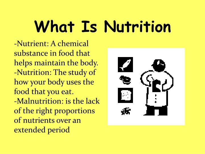 What is nutrition
