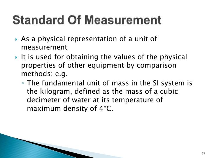Standard Of Measurement