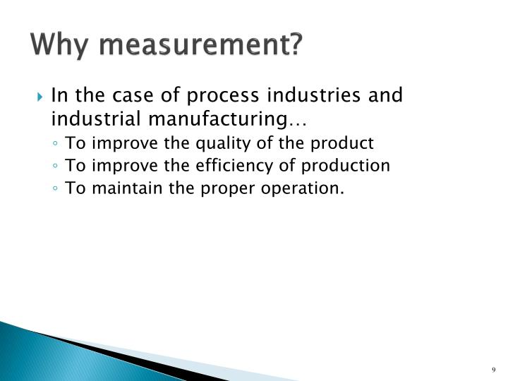 Why measurement?