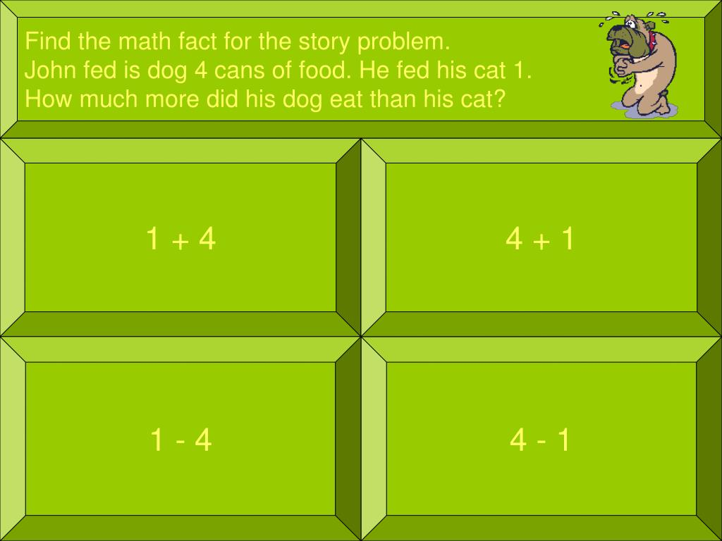 Find the math fact for the story problem.
