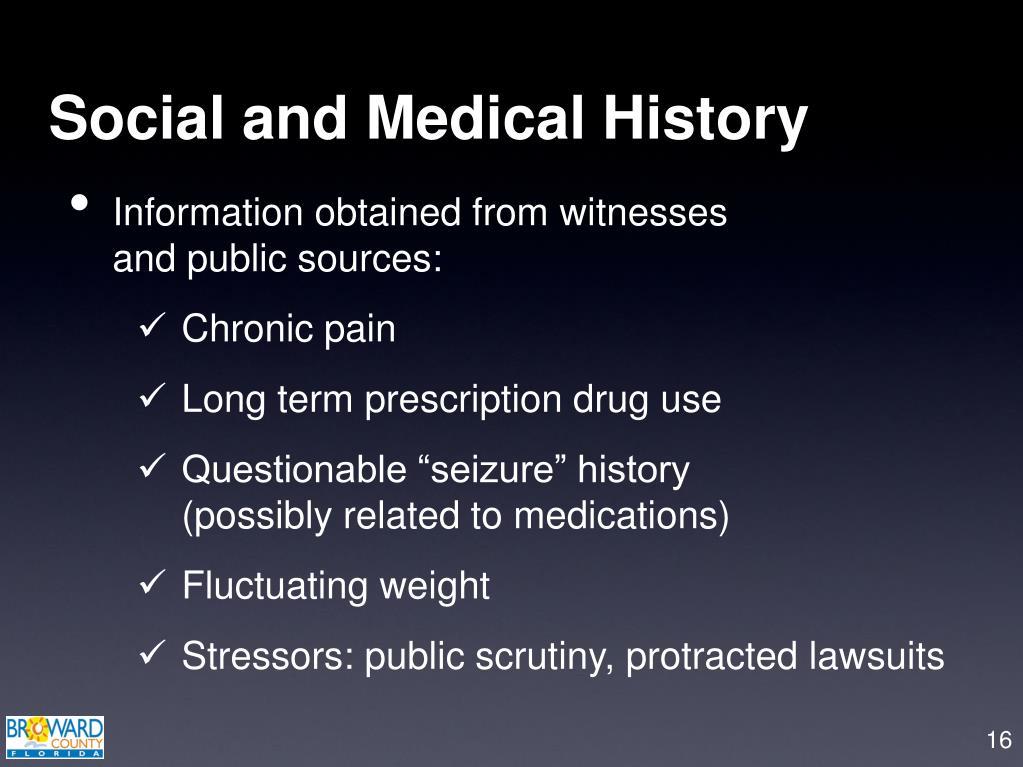 Social and Medical History