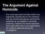 the argument against homicide79
