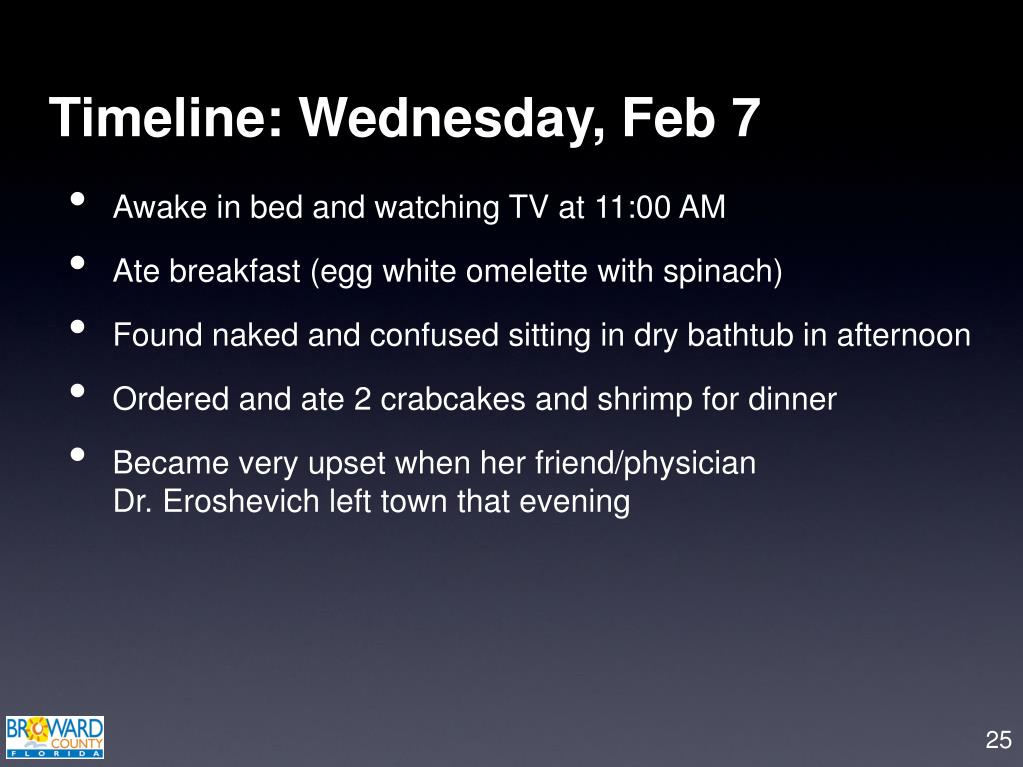 Timeline: Wednesday, Feb 7