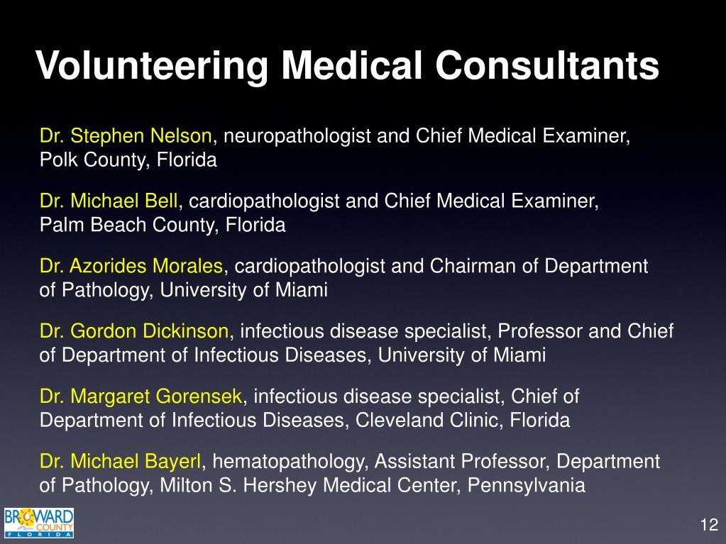 Volunteering Medical Consultants