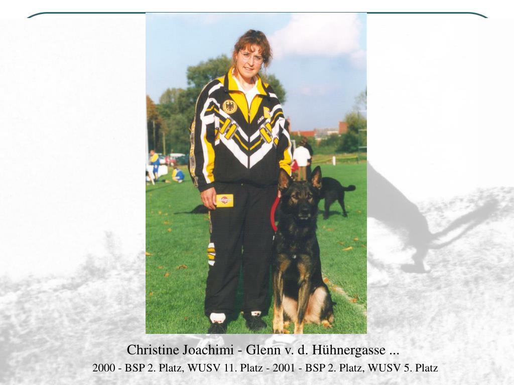 Christine Joachimi - Glenn v. d. Hühnergasse ...