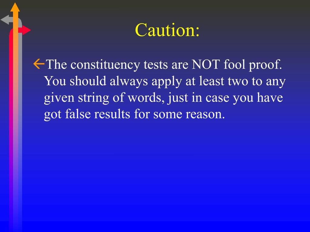 Caution:
