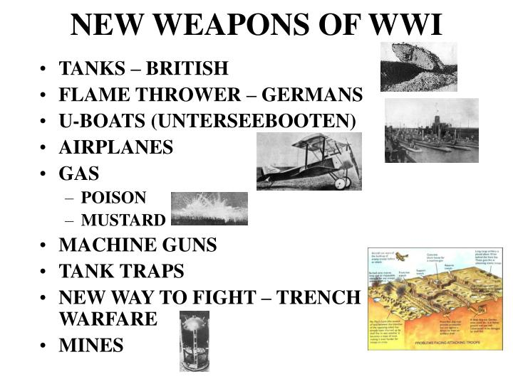 NEW WEAPONS OF WWI