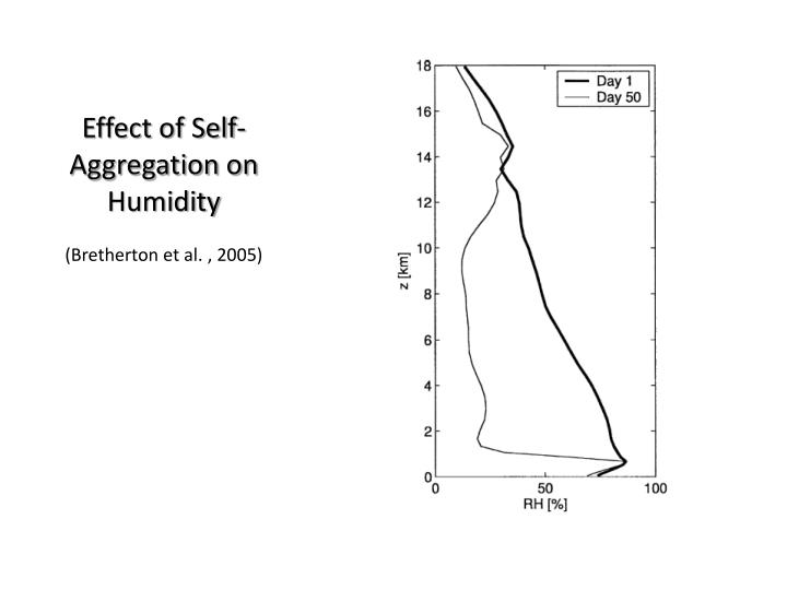 Effect of Self-Aggregation on Humidity