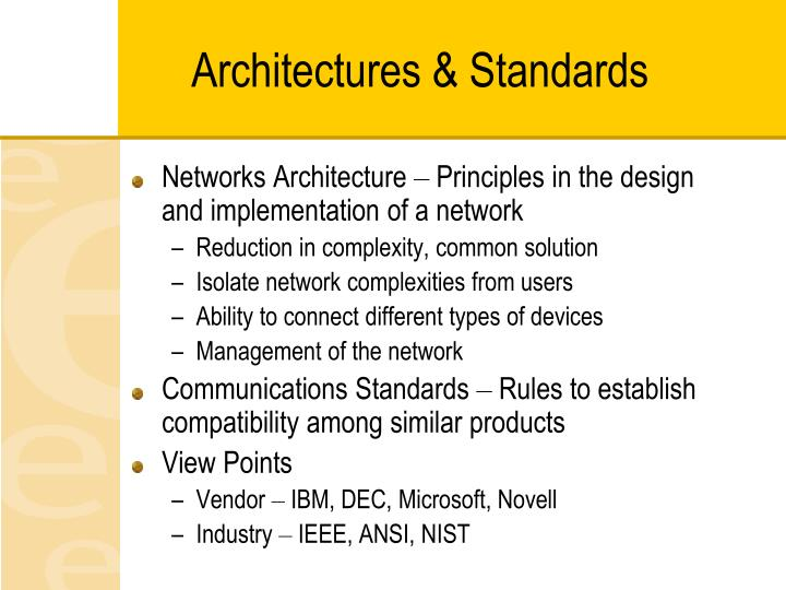 Architectures & Standards