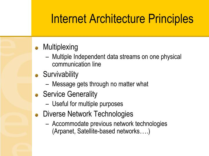 Internet Architecture Principles