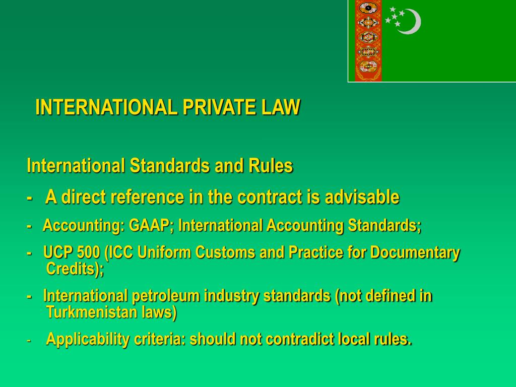 INTERNATIONAL PRIVATE LAW