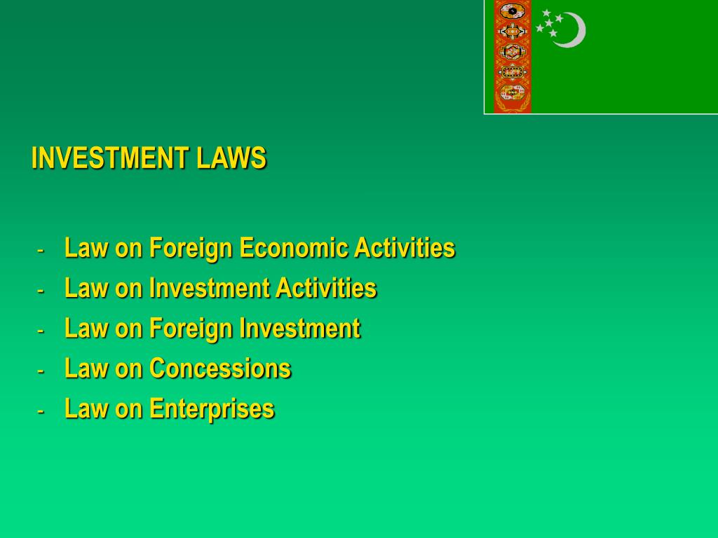 INVESTMENT LAWS