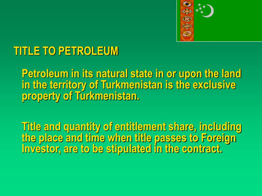 TITLE TO PETROLEUM