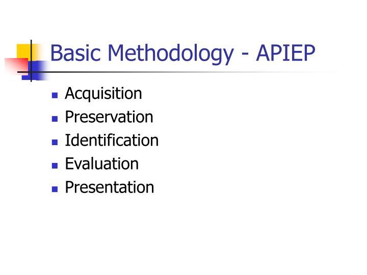 Basic Methodology - APIEP