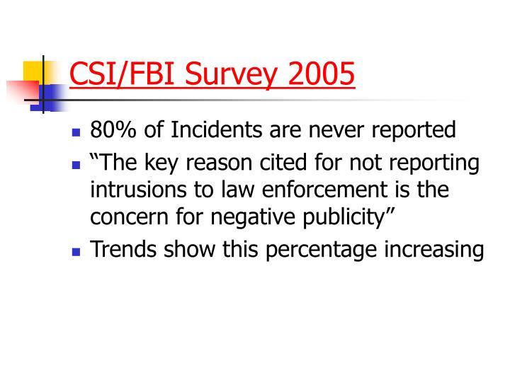 CSI/FBI Survey 2005