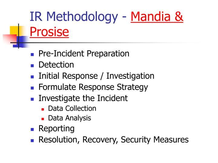 IR Methodology -