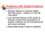 problems with digital evidence1