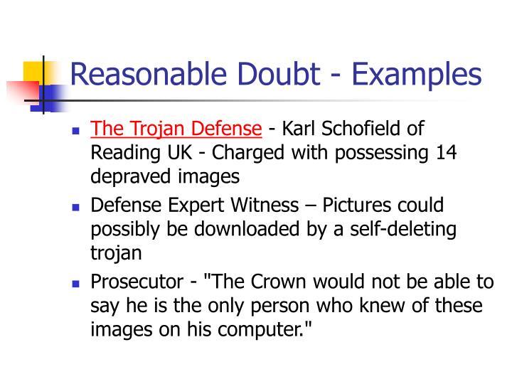 Reasonable Doubt - Examples