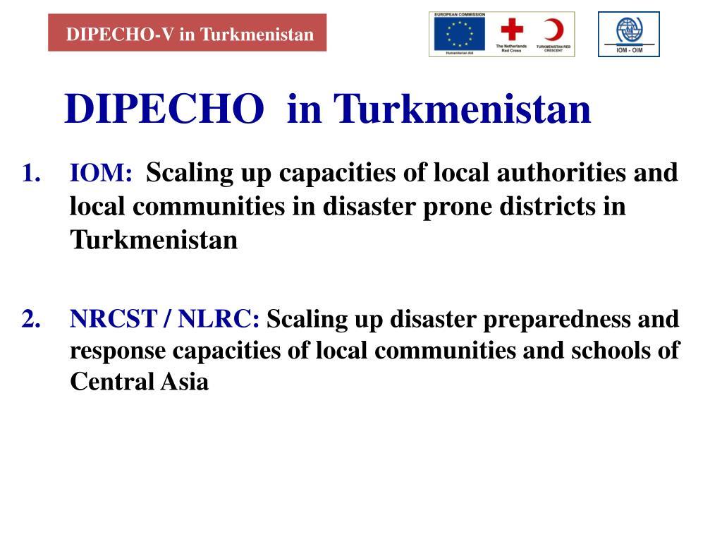 DIPECHO-V in Turkmenistan