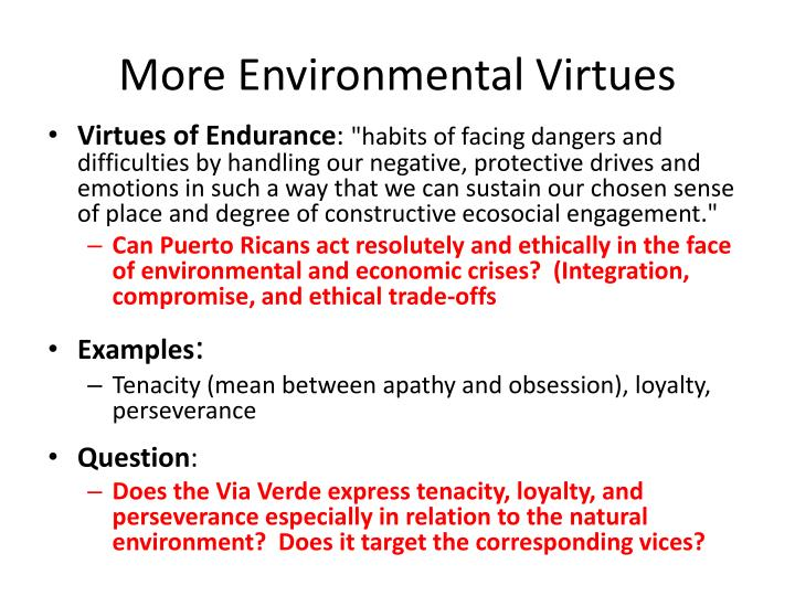 More Environmental Virtues