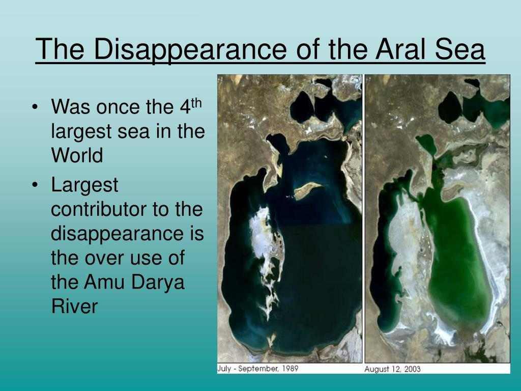 The Disappearance of the Aral Sea