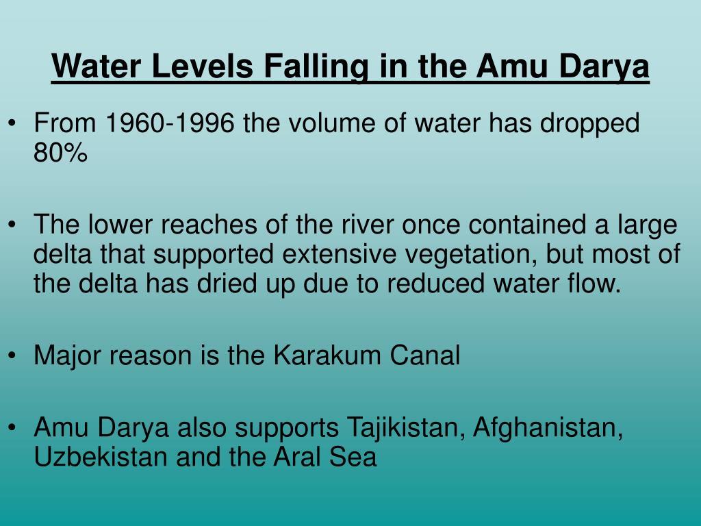 Water Levels Falling in the Amu Darya