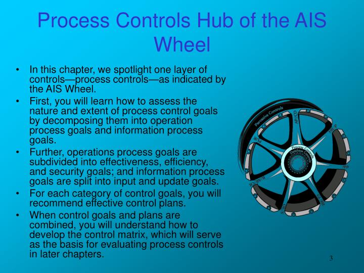 Process controls hub of the ais wheel
