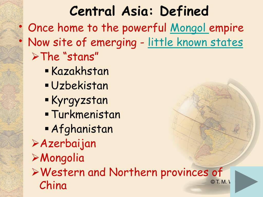 Central Asia: Defined