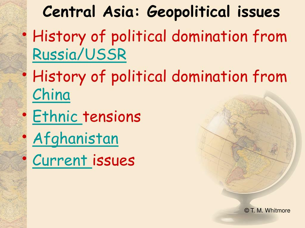 Central Asia: Geopolitical issues
